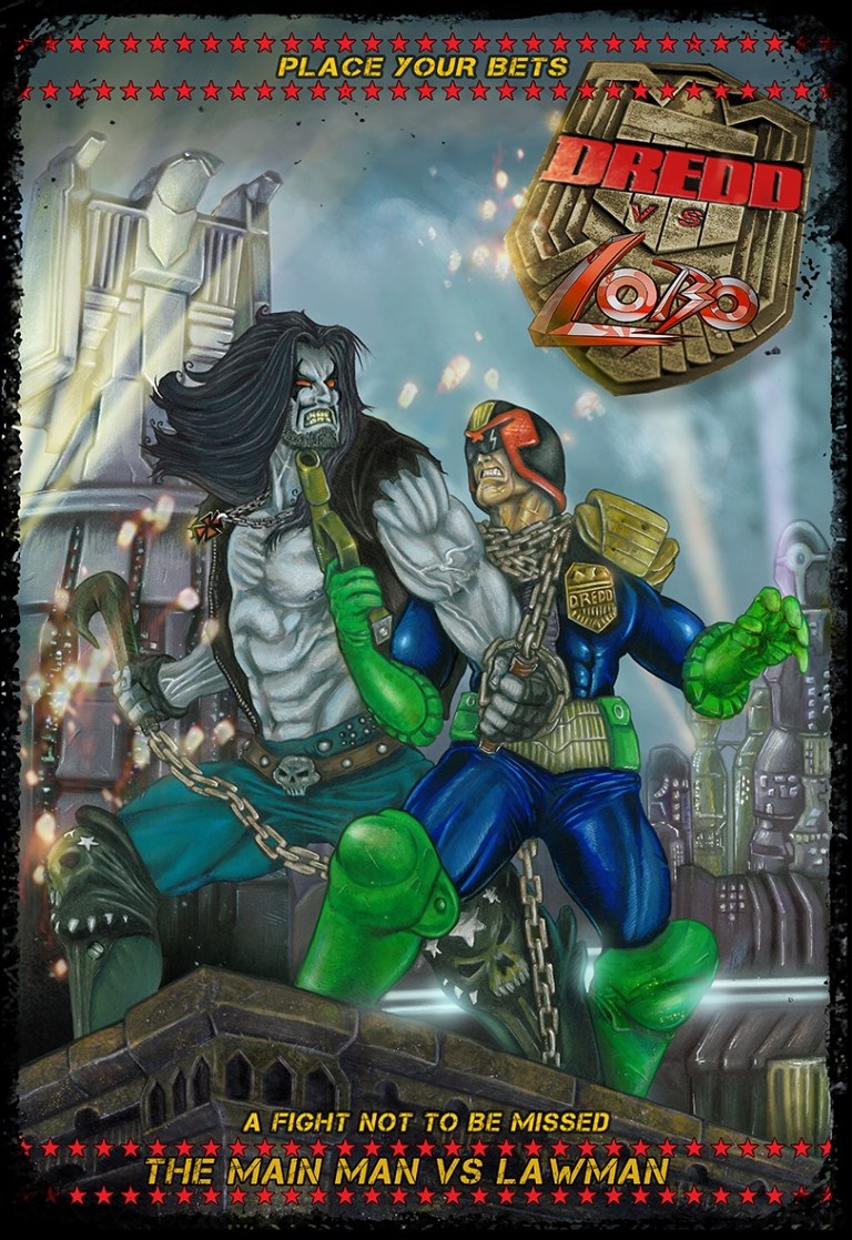 Lobo vs Dredd Clear