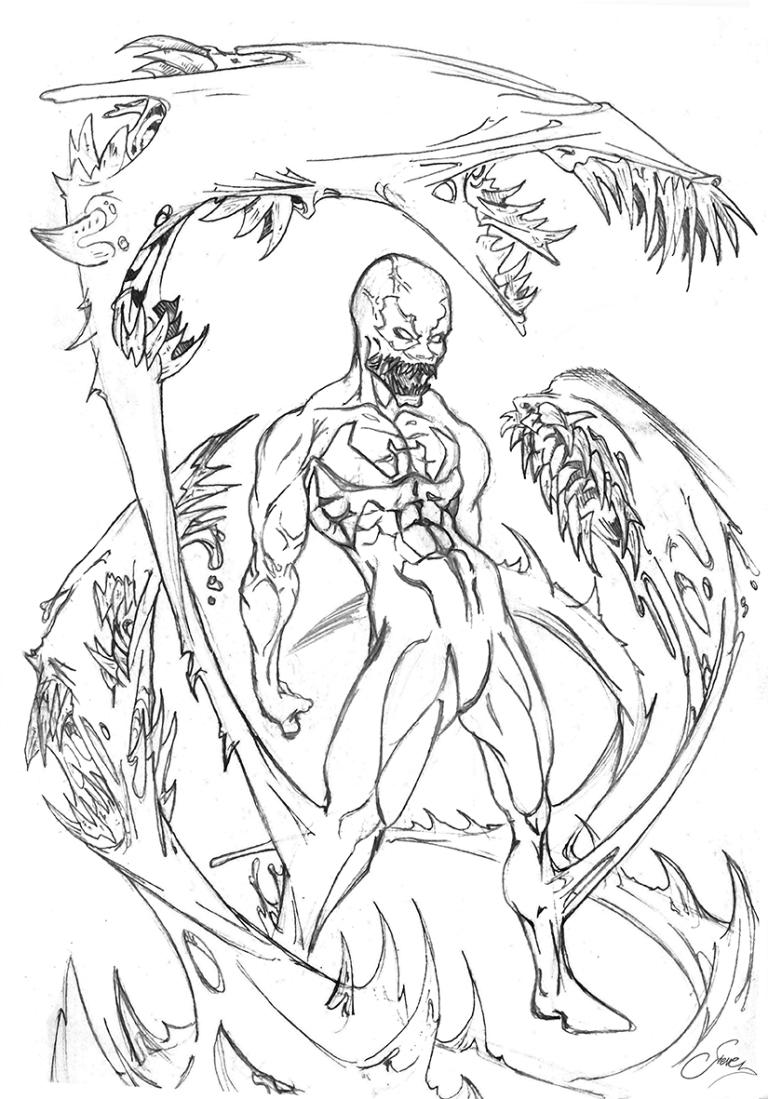 Venom Penciled Commission