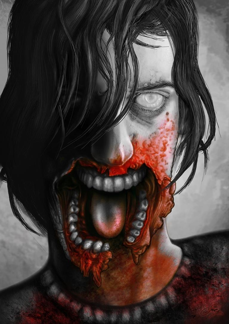 Zombie B&W